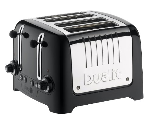 Dualit 46225 4 Scheiben Lite Toaster gloss, schwarz (black)
