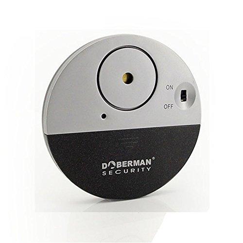 IHRKleid Ultra-Dünner Fensteralarm mit lautem 100dB Alarm und Vibrationssensoren Glasbruchmelder Alarmanlage Vibration Ausgelöst - Moderne und ultra-dünnen Design Kompatibel mit jedem Fenster