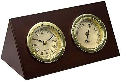 Desktop Clock and Barometer Set, 17 cm