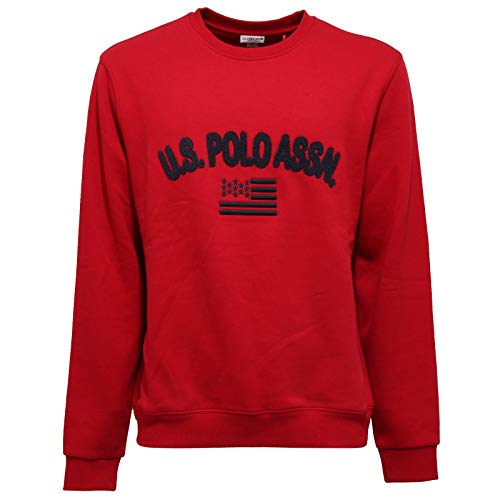 U.S. POLO ASSN. 8763AA Felpa Uomo Red Cotton Sweatshirt Man [XL]