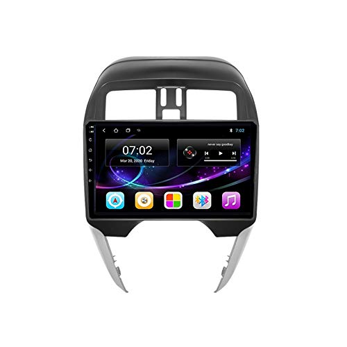 MGYQ 2 DIN Coche Bluetooth GPS Multimedia Car Stereo con Cámara De Visión Trasera Soporte Control del Volante Receptor FM 1080P Video AUX In, para Nissan Sunny/Almera 2014-2018,Quad Core,4G WiFi 1+32
