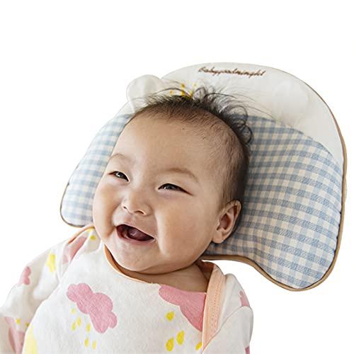 HXPainting Almohada Bebé Recién Nacido Cabeza Shaping Almohada para Dormir Transpirable Práctica para Bebé Previene La Cabeza Plana Almohadilla,0-6 Edad