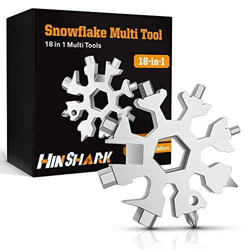 Hinshark Geschenke für Männer - 18-in-1 Schneeflocken Multi-Tool, Adventskalender Männer 2021, Gadgets für Männer, Weihnachtsgeschenke, Coole Werkzeug Kleine Geschenke für Männer, Papa, Mann, Frauen
