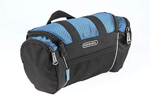 XPhonew Panier de vélo, sac de guidon de vélo, sac de cadre avant, sac de tube supérieur, sacoche de vélo avec sangle d'épaule pour VTT de route (bleu)