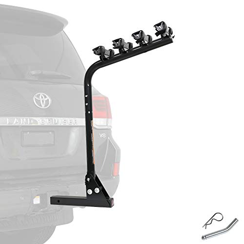 """CD Smart Tilting Bike Rack 2"""" / 50mm Tow Trailer Hitch Receiver Mount - Car SUV Truck Carrier 4 x Bicycle - Heavy Duty Sturdy Rust Proof"""