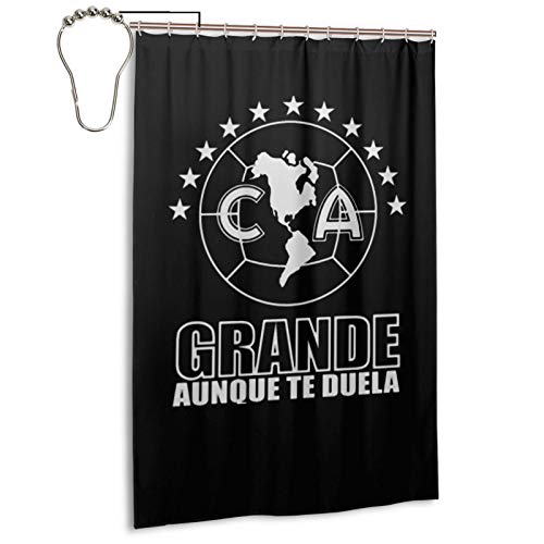 Club America De Mexico Bathroom Shower Curtain Waterproof Decorative Shower Curtain 48x72 in