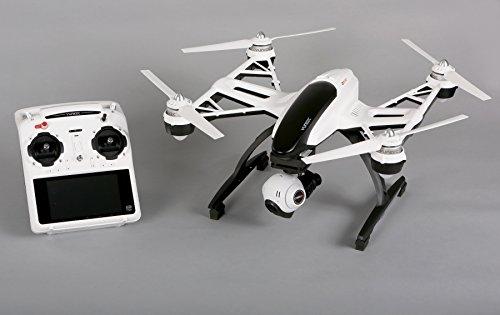 YUNEEC Q500 Typhoon Multicopter mit 12 Megapixel bzw. 1080p/60fps Full HD Kamera, mit 3-Achsen Brushless Gimbal, SteadyGrip und ST10 Fernsteuerungssystem