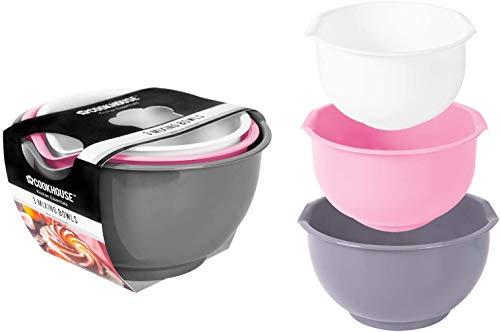 Royle Mixing Bowl, Baking Bowl Set, Made of Plastic, Non-Slip Bottom, 3 Pieces
