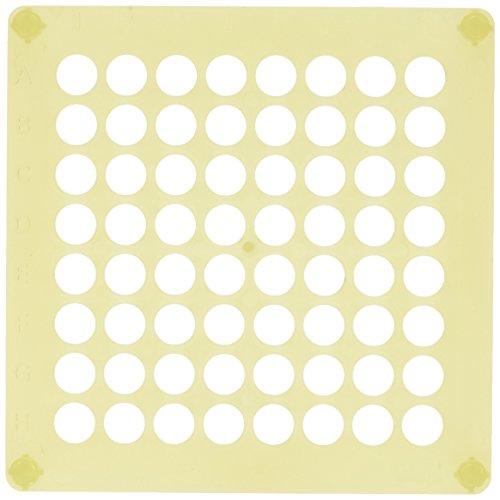 Camlab Plastics RTP/72112-Y 64 Place Polypropylen-Einsatz, stapelbar, Gelb, 10 Stück