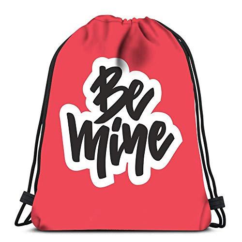 Bolsas de cordón Mochila única Be Mine Art Save The Date Valentine Isol Travel Mochilas Tote School Mochila Impresión