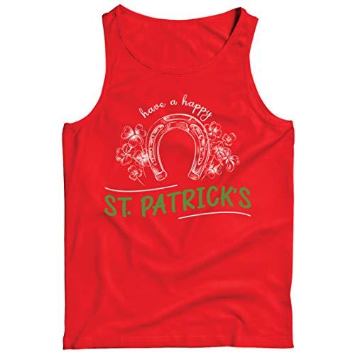 lepni.me Camisetas de Tirantes para Hombre Have a Happy Saint Patrick's Day Shamrock Luck of The Irish