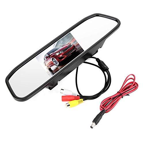 LCZB cámara de tableroMonitor De Aparcamiento Inverso para Coche, Monitor De Marcha Atrás HD para Coche De 4,3 Pulgadas, Pantalla TFT-LCD, Entrada De Vídeo De 2 Canales, Grabadora De Coche