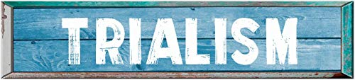 TRIALISM 8' Rectangle Blue Colored Weathered Painted Rustic Look Decal Bumper Sticker for use on Any Smooth Surface