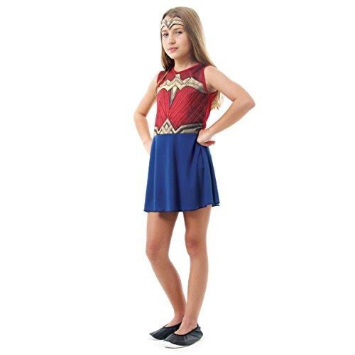 Mulher Maravilha Batman X Superman Infantil Sulamericana Fantasias Azul/Vermelho G 10/12 Anos