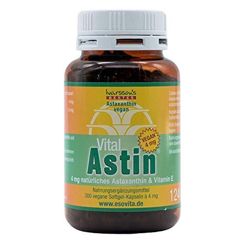 VitalAstin Astaxanthin 300 vegane Kapseln I Das Original - Ivarssons VitalAstin mit 4 mg natürlichem Astaxanthin I Zellschutz