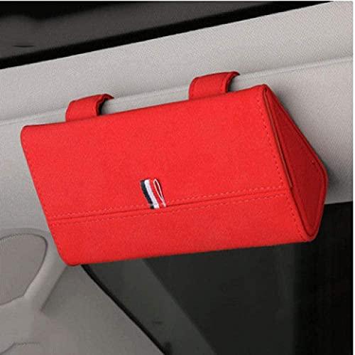 LJQJYFC - Funda para gafas de sol con visera para coche, multifuncional, forro suave, caja de almacenamiento, soporte universal para coche, color azul