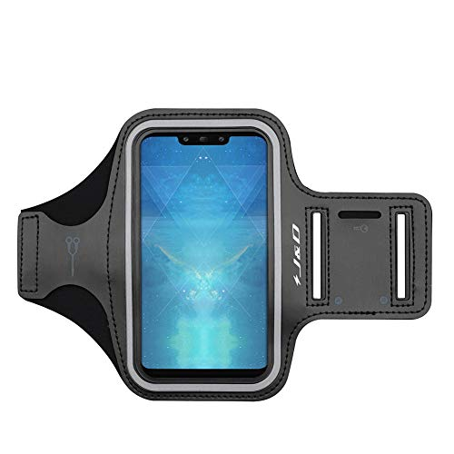 J&D Kompatibel für Huawei Mate 20/20 Pro/20 Lite/Mate X/Honor 8X/Play/P Smart Z/P Smart S/Honor 10X Lite Armband, Sportarmband Running Armband, Zusätzliche Tasche für Schlüssel, Kopfhörer-Verbindung