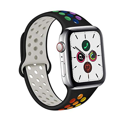 Gizget Silicon Sport Bands Compatible with App le Watch Band 38mm 40mm 42mm 44mm for Watch Series 5 4 3 2 1