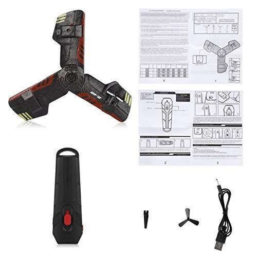 FHJZXDGHNXFGH-DE 2,4G UFO Bumerang Flugzeuge Kreative Mini Drone RC Quadcopter Fernbedienung Spielzeug Wiederaufladbare Mit Blitzlicht