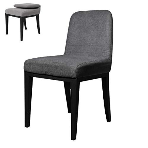 N/Z Living Equipment Stühle Nordic Waschbarer Klapp-Esszimmerstuhl Moderner Restaurant-Rückenlehnenstuhl mit Metallbeinen Stoff Schlafzimmer-Dressing-Stuhl für Küchenbüro Hoteltisch