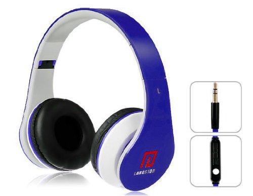 Langston  ® Faltbare Super Bass High Definition Kopfhörer (iM-12 V) in Blau mit Mikrofon & Fernbedienung Für Hisense Sero 7 Pro/Sero 7 LT 7