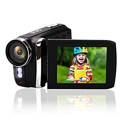 "Mini DV Camcorder, Heegomn 12MP 1080P Digital Video Camera / 2.8"" TFT LCD Flip Screen / 270 Degree Rotatable Handycam Camcorder for Kids/Beginners/Elderly (No Tape Slot) by Heegomn"