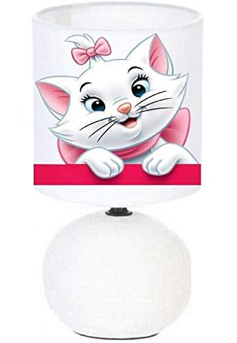 PRESENT Lampe de chevet MARIE ARISTOCHAT - création artisanale.Personnalisé avec Le prénom de l'enfant N° 5. (produit Français)
