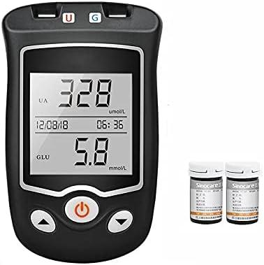 Ninhao Tiras de ácido úrico Probador de Diabetes Kit de medidor de Prueba de ácido úrico y glucosa en Sangre (Size : 50 Uric Acid Test Strips+Detector)