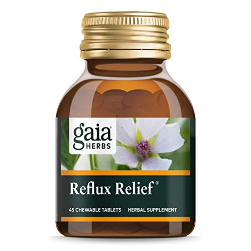 Gaia Herbs Reflux Relief Vegan Tablets, Helps Upset Stomach, Heartburn & Acid Indigestion - - 45 Count (Pack of 1)