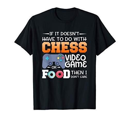 Videojuego de ajedrez o diseño de alimentos Camiseta