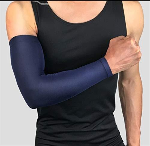 Maniche del braccio, 2 coppie di basket manica del braccio Armguards Quick Dry UV Protectin in corso di sostegno del gomito Manicotti fitness Gomitiera in bicicletta per corsa, ciclismo, attività all