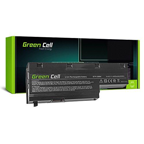 Green Cell® Standard Serie BTP-D4BM BTP-D5BM Laptop Akku für Medion Akoya E7211 E7212 E7214 E7216 P7611 P7612 P7614 P7615 P7618 P7810 (8 Zellen 4400mAh 14.4V Schwarz)
