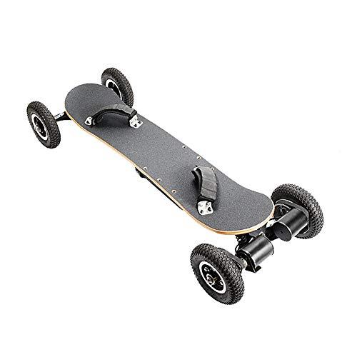 JAHJU Elektrisches Skateboard Off-Road Elektro Skateboard mit Fernbedienung, All Terrain Offroadreifen Board Pro Longboard, 10Ah, 40 Km/H - 120 KG, Dual Motor 1450W x 2