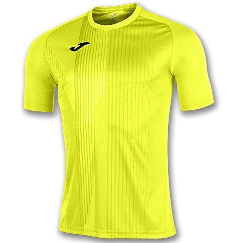 Joma Camiseta Tiger M/C Fluo Fútbol Fashion Camiseta para Hombre, 100945_060_4XS-3XS, Fluo,...