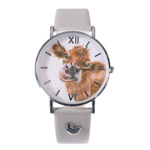 Wrendale Designs Moooo Watch Kuh-Uhr mit Lederband
