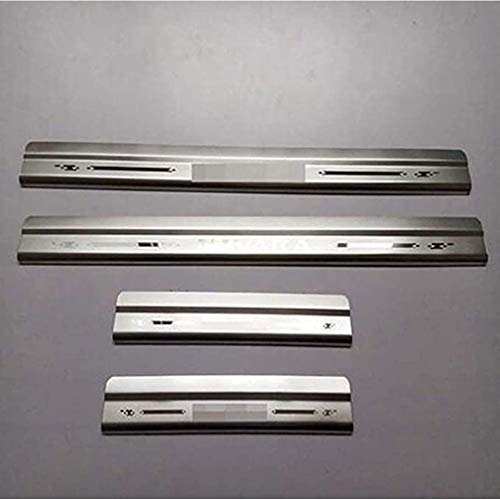 BTSDLXX 4Pcs Coche Acero Inoxidable Kick Plates Decoración Estribos, Auto Door Sill...