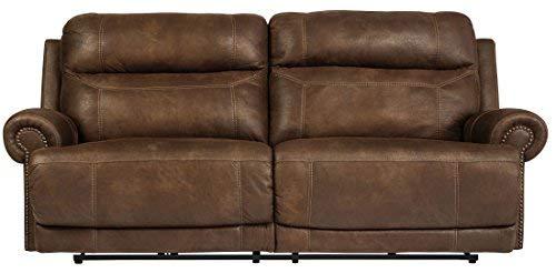 Ashley Furniture Signature Design - Austere Recliner Sofa - Power Reclining Love Seat - 2 Seat - Brown