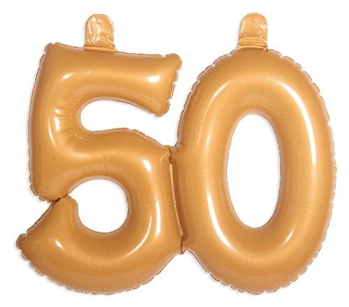 Folat 20050 opblaasbaar getal 50 goud