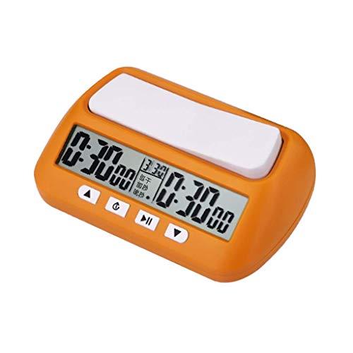 YCZCO Reloj de ajedrez portátil Temporizador Digital Juego de Mesa Reloj Cronómetro Amarillo