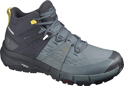 Salomon Odyssey Mid GTX Zapatillas de senderismo para hombre, Negro (Ébano/Tiempo Tormentoso/Azufre), 44 EU