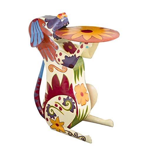 LGLG Adornos de resina de animales, mesa auxiliar, mesa de café, arte étnico, muebles de terraza, estatuas de resina de animales (A)
