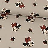 Stoffe Werning Baumwolljersey Lizenzstoff Minnie Mouse