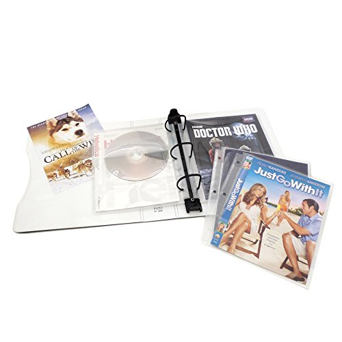 Keepfiling DVD Storage Binder Stores Up to 20 DVDs, CDs, with DVD Cover Art/Title Page (White)