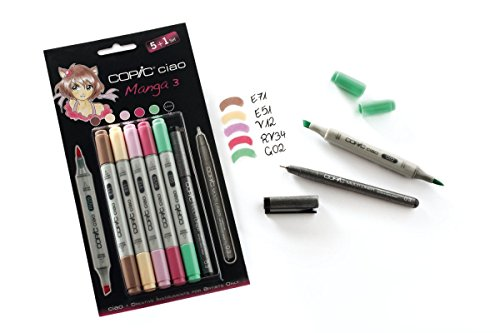 COPIC ciao Set 5+1 Manga 3