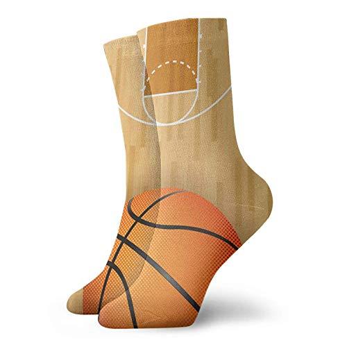 Yaxinduobao Cancha de baloncesto y pelota Calcetines cálidos y transpirables Calcetines casuales 30cm