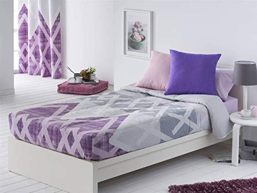 Sansa - Edredón ajustable AMAN cama 90 - color lila