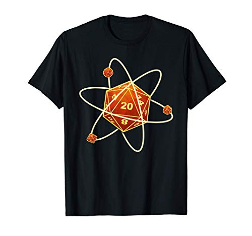 W20 Atom Fantasie Rollenspiel Rettungswürfe Würfel Dragons T-Shirt