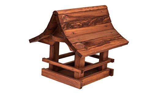 Vogelfutterhaus Vogelhäuschen Futterspender, aus Holz, vogelhaus Perfekt auf Balkon oder Garten. (Rosenholz)
