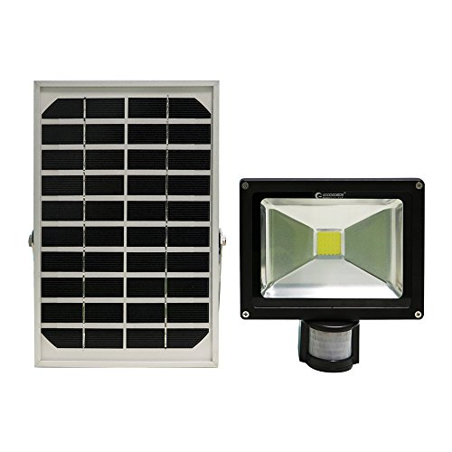 GOODGOODS LED 充電式 ガーデンライト 20W 200W相当 ソーラー 屋外 防水 センサーライト 人感センサー 光センサー付き【一年保証】 T-GY20X