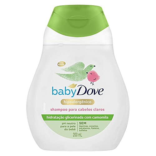 Shampoo Infantil Dove Baby Hidratação Enriquecida Cabelos Claros 200ml, DOVE BABY